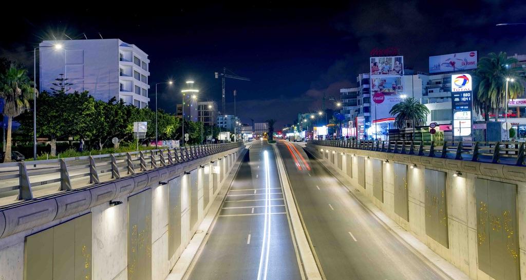 الدار البيضاء خلال حظر  التنقل الليلي       (تصوير رزقو)