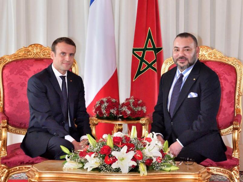 جلالة الملك يهنئ الرئيس الفرنسي